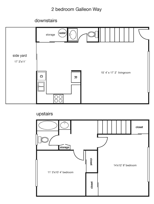 Galleon Way Complex 2 Bedroom 1 5 Bath Townhouse San Luis Obispo Apartment Rental