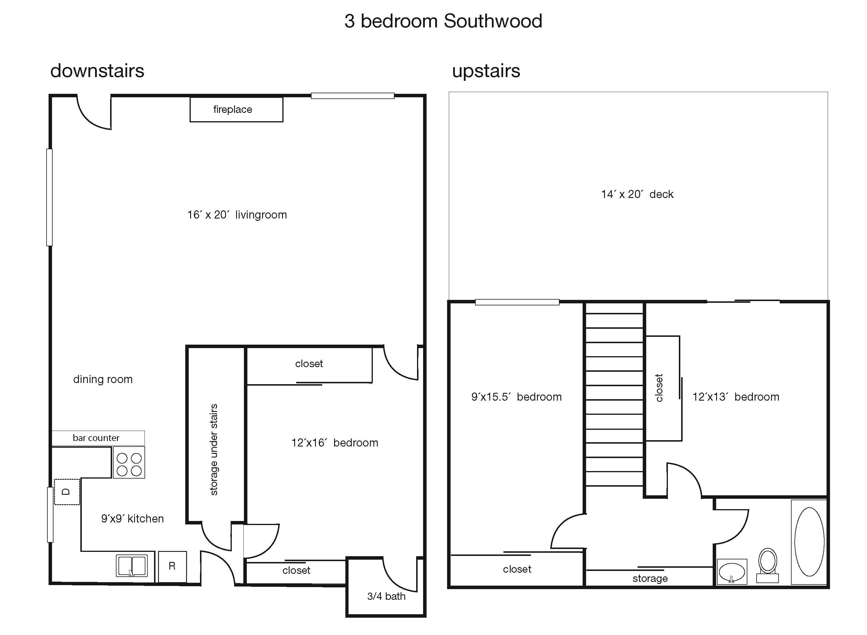 Southwood Dr Complex 3 Bedroom 2 Bath Condo San Luis Obispo Apartment Rental